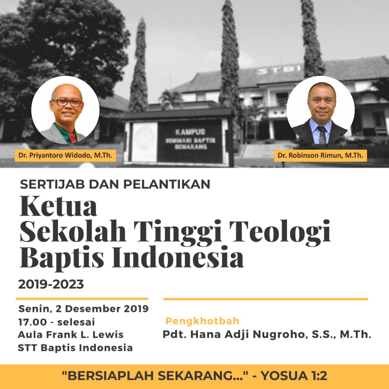 Sertijab dan Pelantikan Ketua STBI 2019-2023