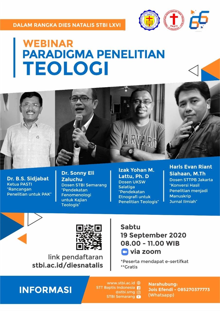 Webinar Paradigma Penelitian Teologi